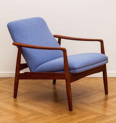 teak lounge chair pello ikea mid century by alf svensson for soren j ladefoged 1960s