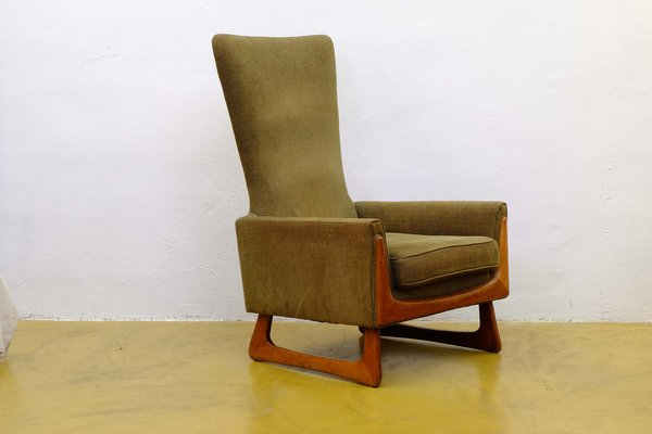 adrian pearsall lounge chair folding parts mid century american walnut by for sale 1