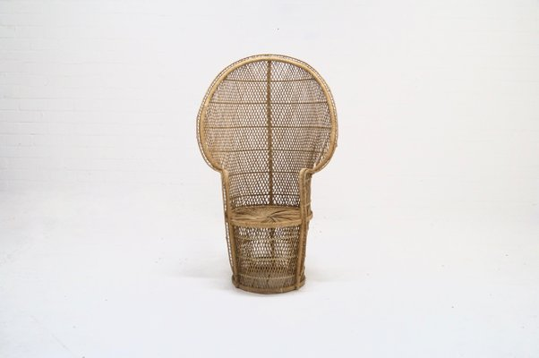 wicker chair for sale xl zero gravity with canopy footrest large peacock 1970s at pamono 1