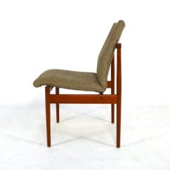 Dining Chairs Fabric Club Vintage In Teak And From Thereca Set Of 4 For 11