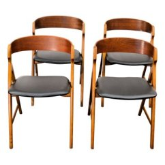 Vintage Wooden Dining Chairs Portable Chair Umbrella Set By Henning Kjaernulf For Boltinge Stole Mobelfabrik Of 4 1