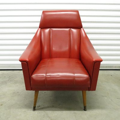 red lounge chair eames reading mid century skai chairs 1960s set of 2 for sale at pamono 1