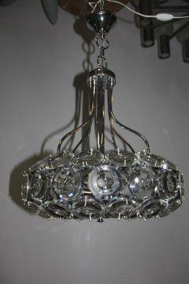 In ceramica vintage lampada da tavolo vintage risalente agli anni '70. Vintage Italian Steel Glass Chandelier 1970s For Sale At Pamono