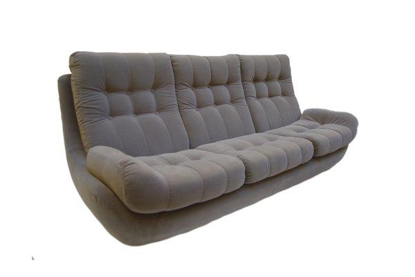 vintage velvet sofa 1970s