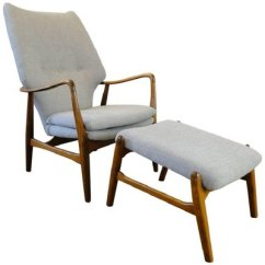 Vintage Arm Chair Microfiber Accent Armchair And Ottoman By Ib Madsen Acton Schubell For Sale 1