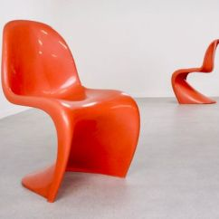 Panton S Chair Charcoal Gray Covers Chairs By Verner For Fehlbaum 1973 Set Of 2 Sale At 1