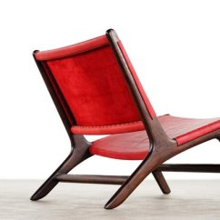 Vladimir Kagan Rocking Chair Covers South Africa Leather And Wood Lounge Ottoman By 1950s 12