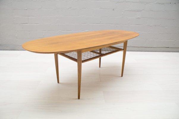 mid century oval coffee table 1950s