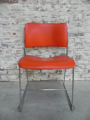 david rowland metal chair cushion chairs pictures vintage stackable 40 4 by for general fireproofing set of