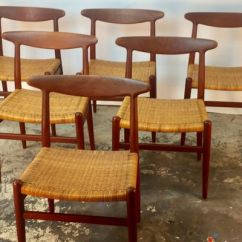 Dining Chairs With Caning Chair Latest Design W2 Teak Cane By Hans J Wegner For C M Madsen 1950s