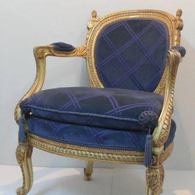 fauteuil style louis xv 19eme siecle