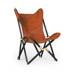 Tan Leather Chair Sale Print Accent Brown Telami Tripolina From For At Pamono 1