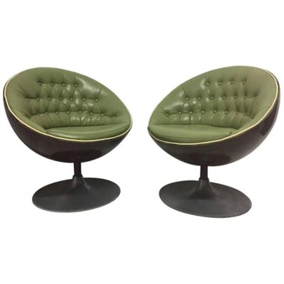 mid century egg chair antique dentist chairs swivel set of 2 for sale at pamono 1