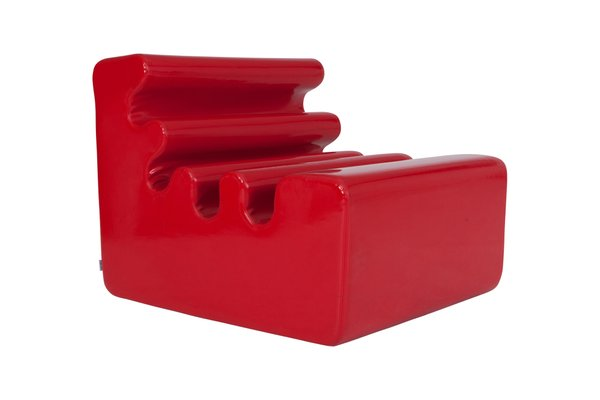 red lounge chair ergonomic qld vintage karelia by liisi beckmann for zanotta 8