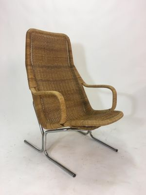 steel lounge chair rv couches and chairs vintage rattan by dirk van sliedrecht 1950s