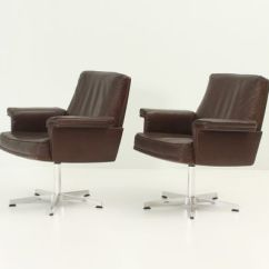 Swivel Arm Chairs Satin Chair Covers Ds 35 Armchairs From De Sede 1960s Set Of 2 For Sale At Pamono 1