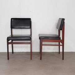 Faux Leather Dining Chairs Swivel Chair Hub Liner Black From Topform 1950s Set Of 2 For 1
