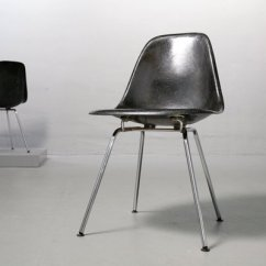 Black Side Chair Folding Target Vintage Fiberglass By Charles Ray Eames For Vitra 2