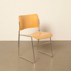 David Rowland Metal Chair Childrens Upholstered Rocking Chairs Model 40 4 Beech Veneer By For Howe 1960s 1