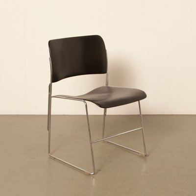 david rowland metal chair covers overall adelaide model 40 4 black by for gf 1960s sale at pamono 1