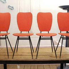 Red Chairs For Sale Floor Protectors 1950s Set Of 4 At Pamono 1