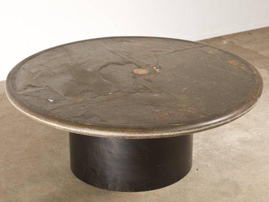 vintage slate stone coffee table by paul kingma