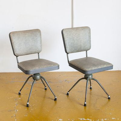 swivel chair in spanish revolving other name industrial grey chairs 1950s set of 2 for sale at 1