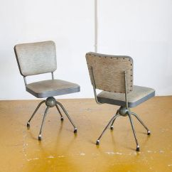 Swivel Chair In Spanish Patio Seat Post Bushing Industrial Grey Chairs 1950s Set Of 2 For Sale At 3