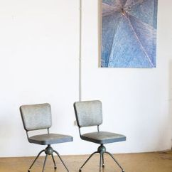 Swivel Chair In Spanish Office Explosion Industrial Grey Chairs 1950s Set Of 2 For Sale At