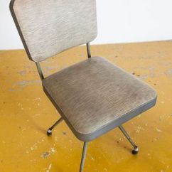 Swivel Chair In Spanish Office Heavy Weight Industrial Grey Chairs 1950s Set Of 2 For Sale At 4