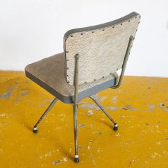 Swivel Chair In Spanish Indoor Hammock Stand Industrial Grey Chairs 1950s Set Of 2 For Sale At 5