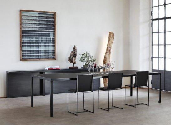 tres grande table de salle a manger tavolo blanche par maurizio peregalli pour zeus