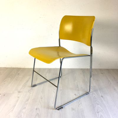 david rowland metal chair purple covers for wedding vintage yellow 40 4 by general fireproofing 2