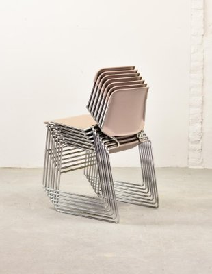 krueger folding chairs patterned club stackable matrix by thomas tolleson for 1970s set of 7 5