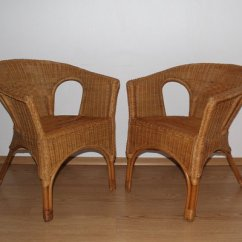 Wicker Chairs For Sale Yellow And Grey Chair Mid Century Set Of 2 At Pamono 1