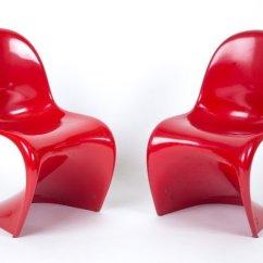 Vernon Panton Chair Aluminum Folding Lawn Vintage Red By Verner For Herman Miller Sale 1
