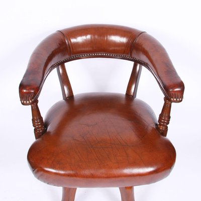 Antique Leather Office Chairs For Sale