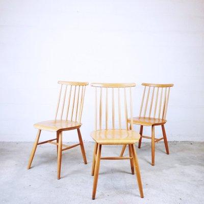 Strutura in legno di faggio curvato e seduta rivestita in similpelle.produzione: Sedia Vintage In Legno Anni 60 In Vendita Su Pamono