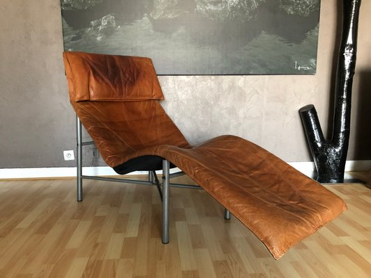 ikea lounge chair recovering cushions vinyl vintage cognac leather by tord bjorklund for 2