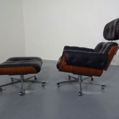 Leather Chair Ottoman Set Orthopedic Office Swiss Wood And By Martin Stoll For Giroflex 1960s