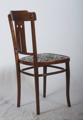 bentwood dining chair sealy posturepedic art nouveau with upholstery by josef hoffmann 2
