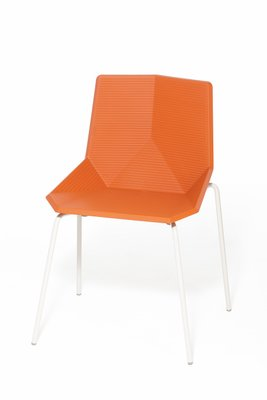 chair steel legs red chairs for living room orange garden with by mobles114 sale at pamono 1
