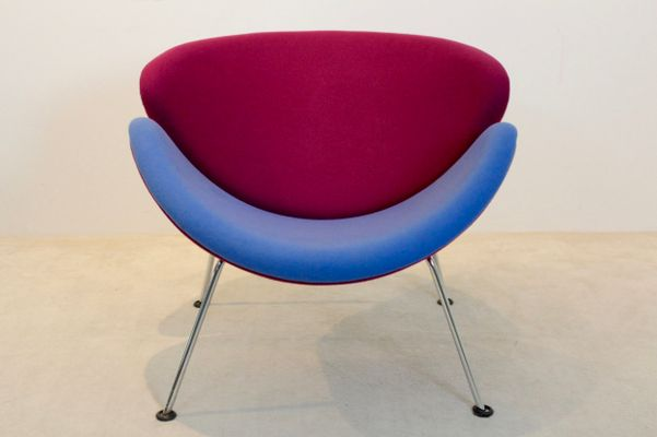 orange slice chair target high pink and blue f437 by pierre paulin for artifort 1960s 1