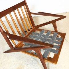 Folding Z Chair Office Depot In Leather Teak By Poul Jensen For Selig 1950s Sale 13