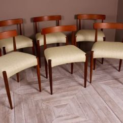 Mid Century Dining Chairs Chair Monitor Stand By Arne Hovmand Olsen For Mogens Kold 1960s Set