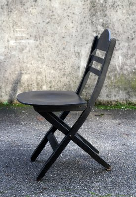 wooden folding chairs for sale coleman lawn vintage set of 4 at pamono 1