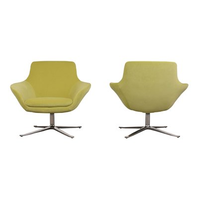 swivel lounge chairs metal barstool pair of 1980s for sale at pamono 1