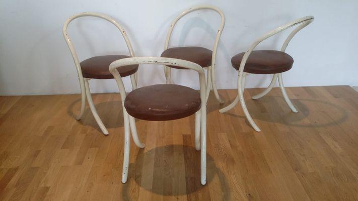Set 4 sedie bianche in resina anni '60/'70 quantity. Sedie Vintage Anni 70 Set Di 4 In Vendita Su Pamono