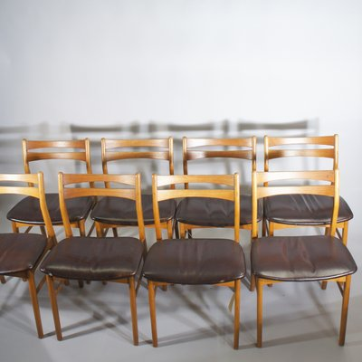 danish dining chair outdoor pouf vintage chairs 1950s set of 8 for sale at pamono 1