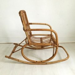 Childs Rattan Chair Folding Aluminium Vintage Child S Rocking In 1960s For Sale At Pamono